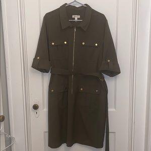 |DRESS BARN| Army Green Dress